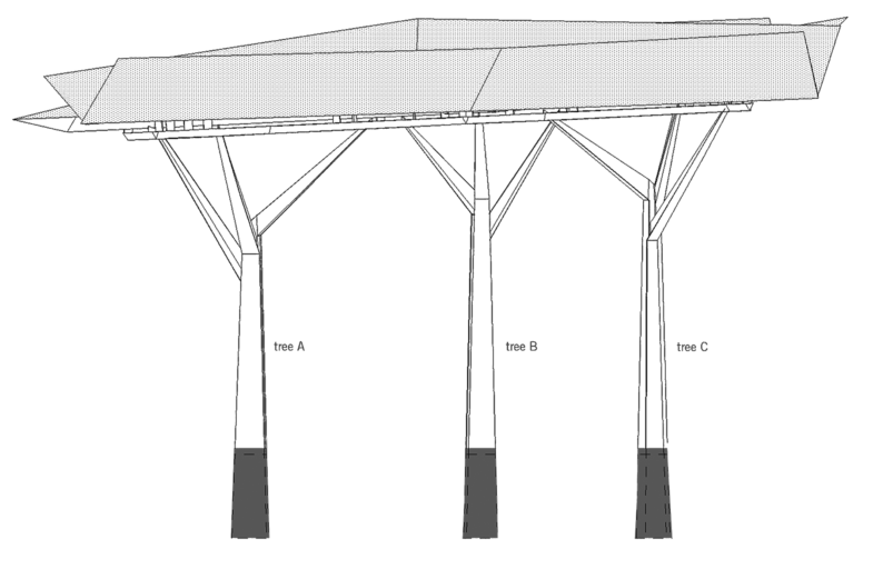 Sarah-Wigglesworth-Architects Chelsea-Flower-Show-Pavilion Drawing Elevation 1800