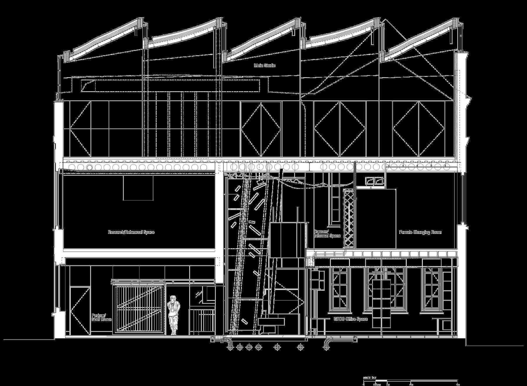 Sarah-Wigglesworth-Architects Siobhan-Davies-Dance Section A 3600