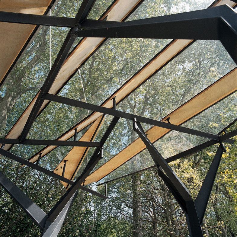 Sarah-Wigglesworth-Architects Chelsea-Flower-Show-Pavilion Detail Glass-Roof 1800