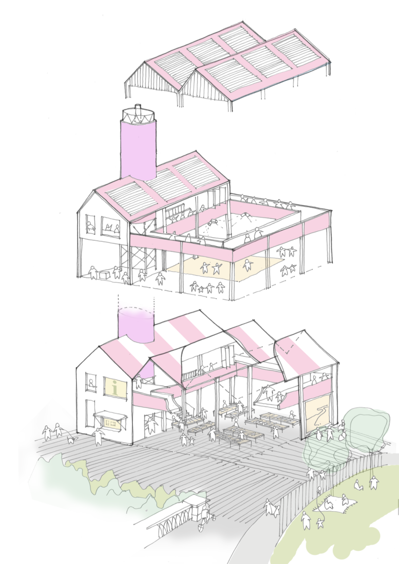Sarah-Wigglesworth-Architects Soar-Market-Axonometric 1800