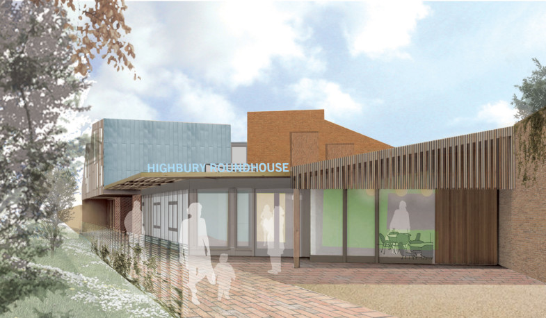 Sarah Wigglesworth Architects Highbury Roundhouse Front Entrance Perspective