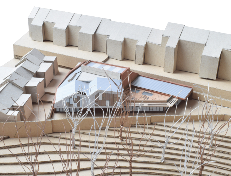 Sarah Wigglesworth Architects Highbury Roundhouse Model