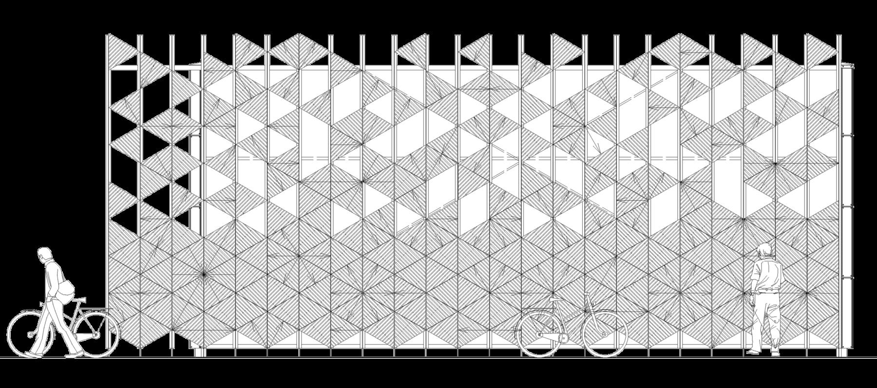 Sarah-Wigglesworth-Architects Bermondsey-Bike-Store-elevation 3600