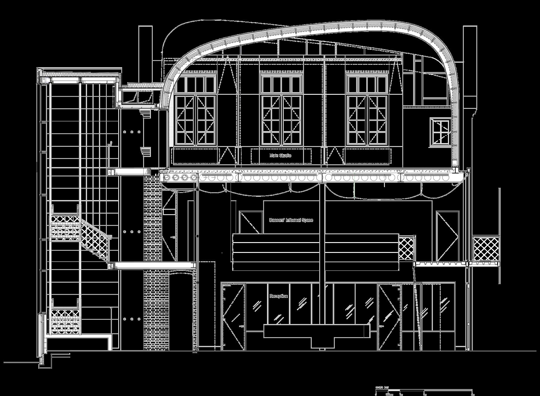 Sarah-Wigglesworth-Architects Siobhan-Davies-Dance Section H 3600