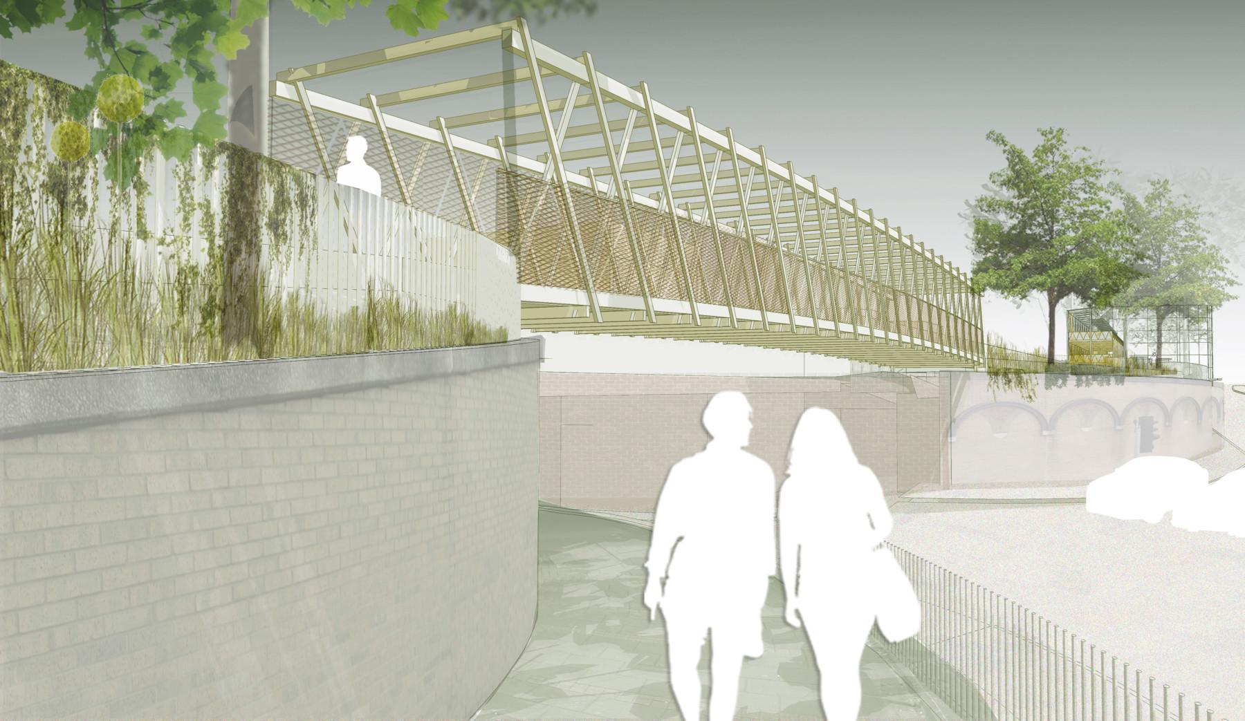 Sarah-Wigglesworth-Architects Kingston-Mini-Holland Bridge 1 Overall 3600