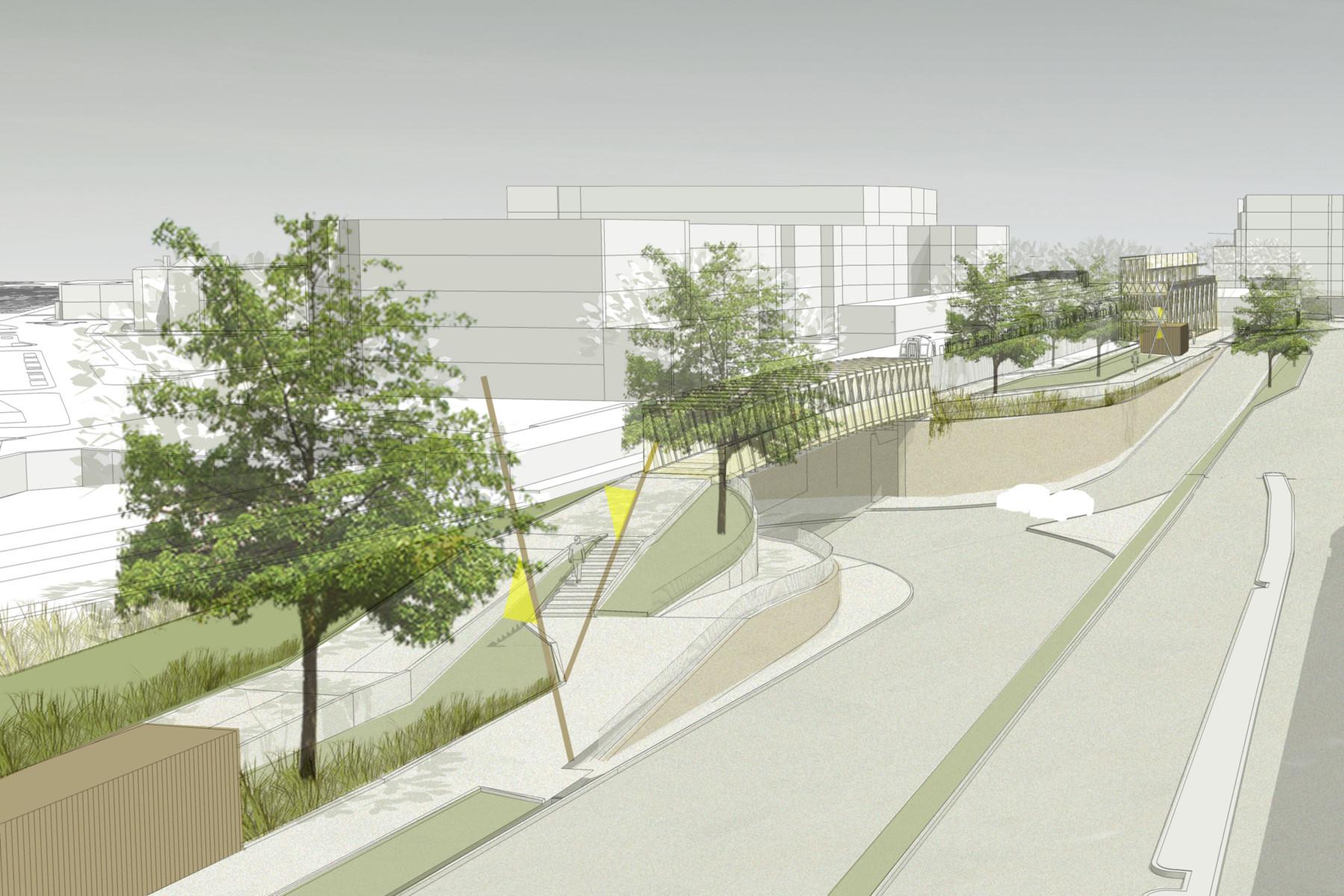 Sarah-Wigglesworth-Architects Kingston-Mini-Holland Bridge 5 Aerial 3600