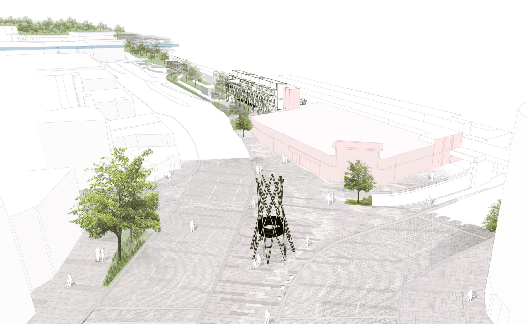 Sarah-Wigglesworth-Architects Kingston-Mini-Holland Context Overall 3600