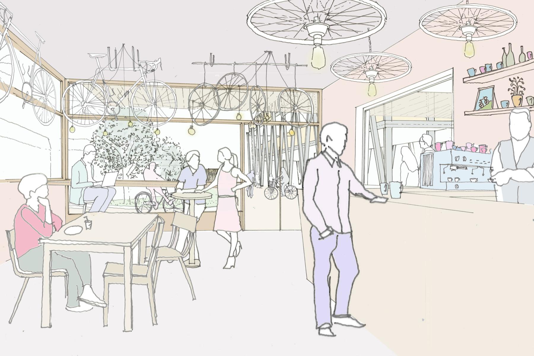 Sarah-Wigglesworth-Architects Kingston-Mini-Holland Hub 6 Perspective 3600