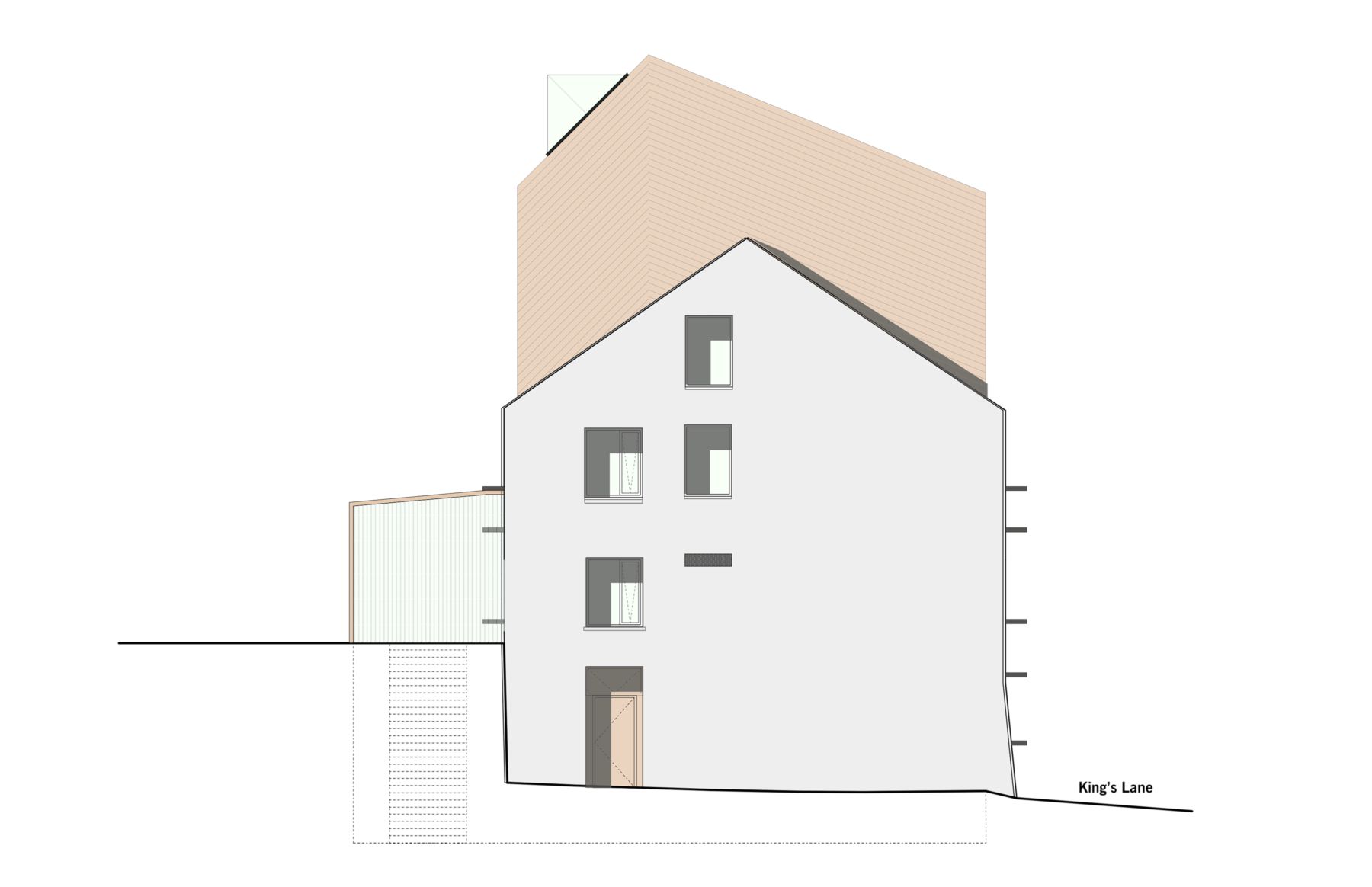 Sarah-Wigglesworth-Architects Swansea-Print-Works Drawing Side-Elevation 3600