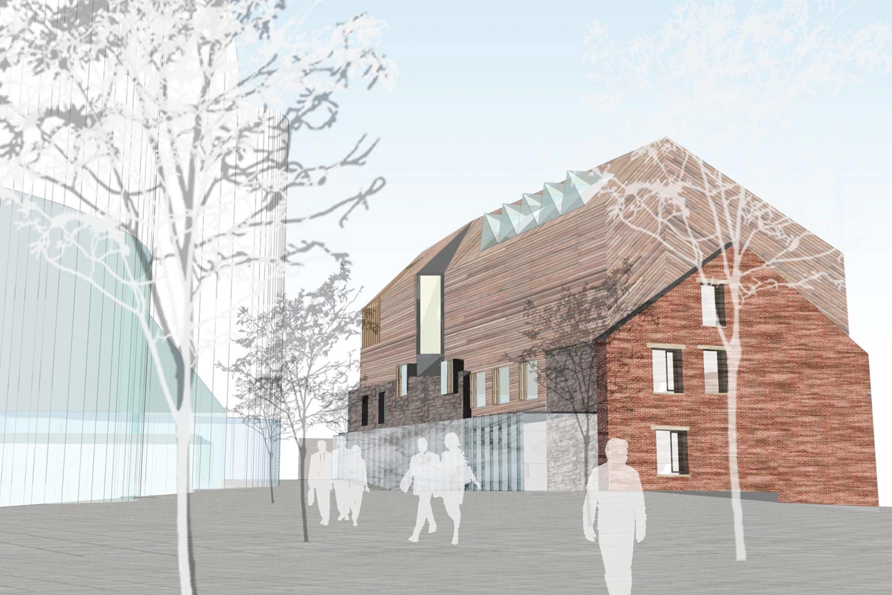 Sarah-Wigglesworth-Architects Swansea-Print-Works East View 3600