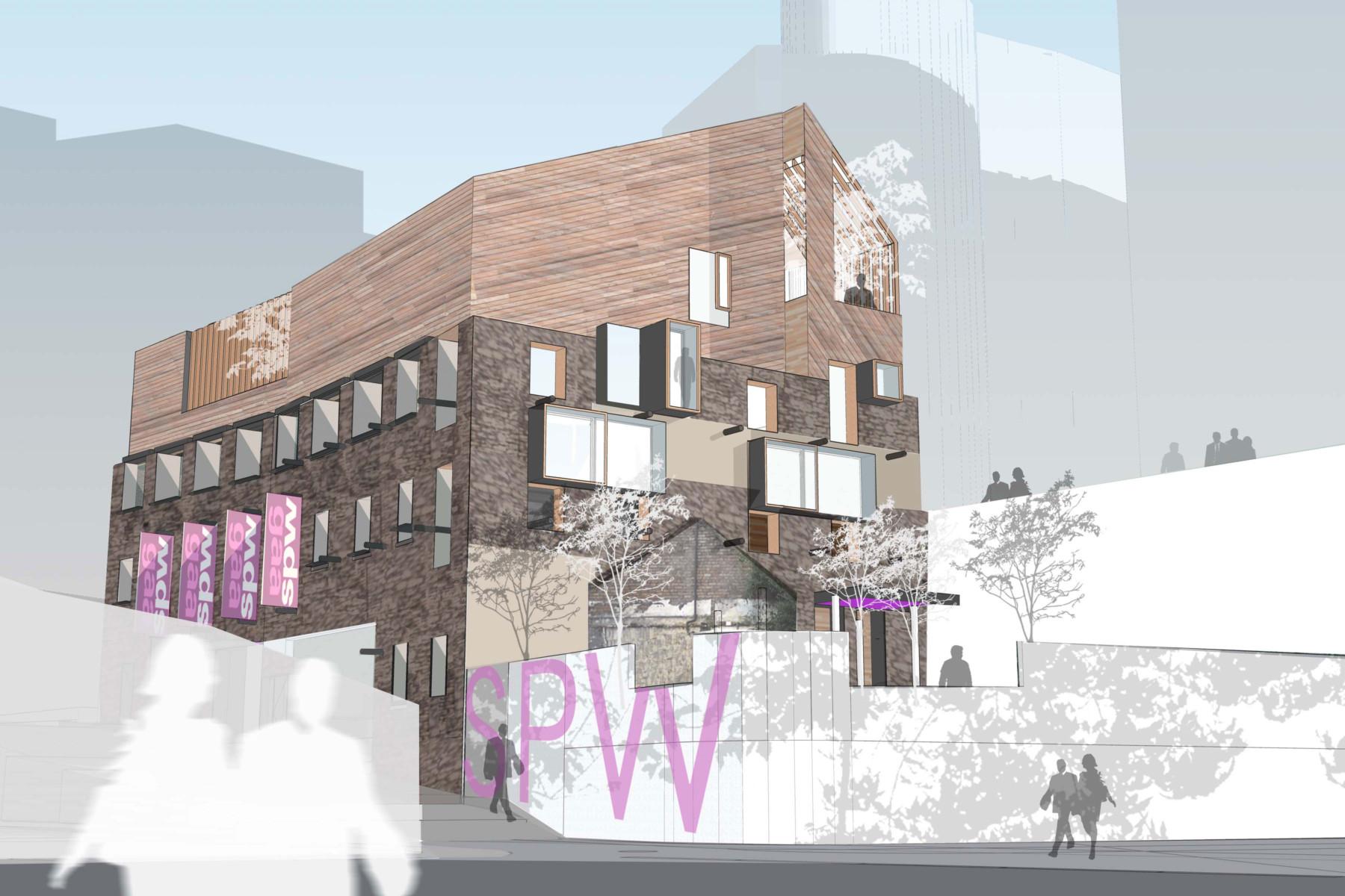Sarah-Wigglesworth-Architects Swansea-Print-Works West View 3600