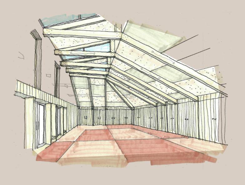 Sarah Wigglesworth Architects Highbury Roundhouse Hall 2
