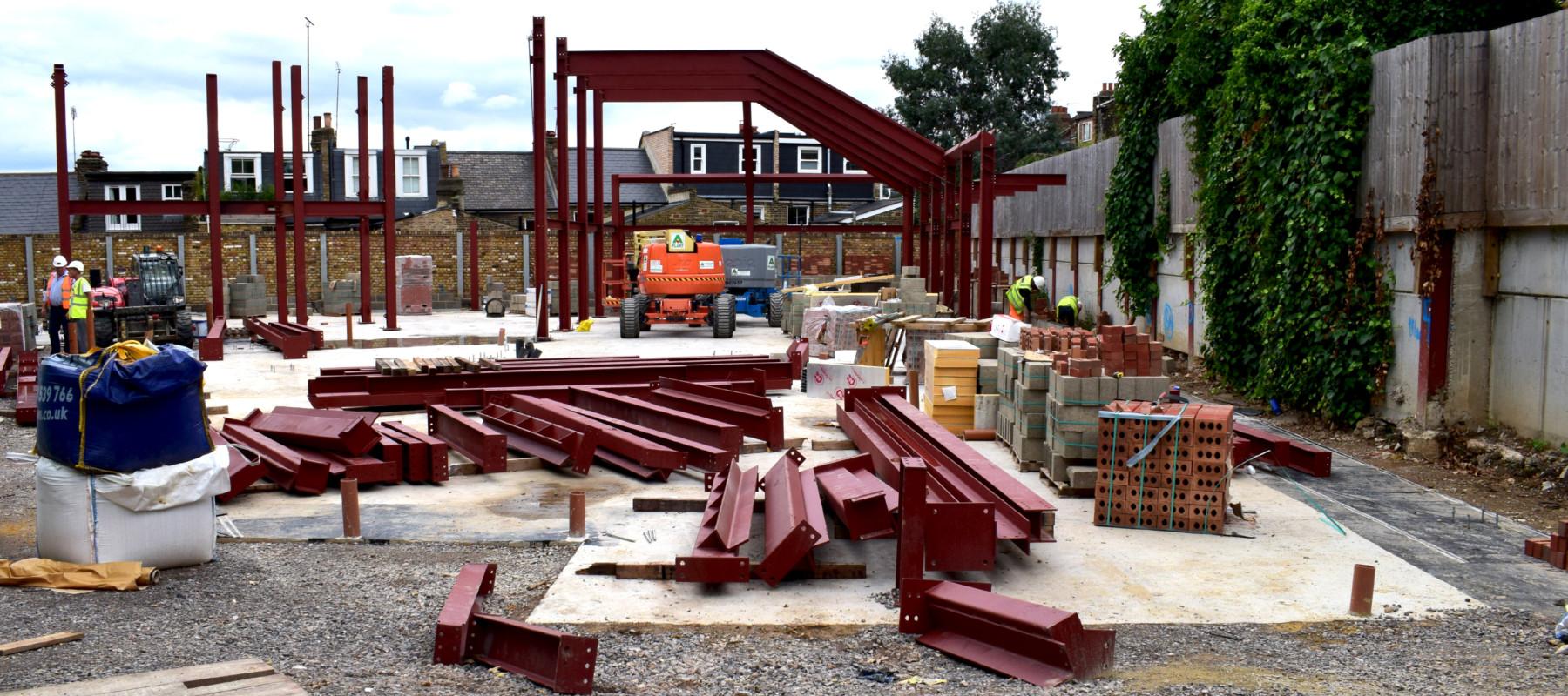 Sarah Wigglesworth Architects Construction process frame