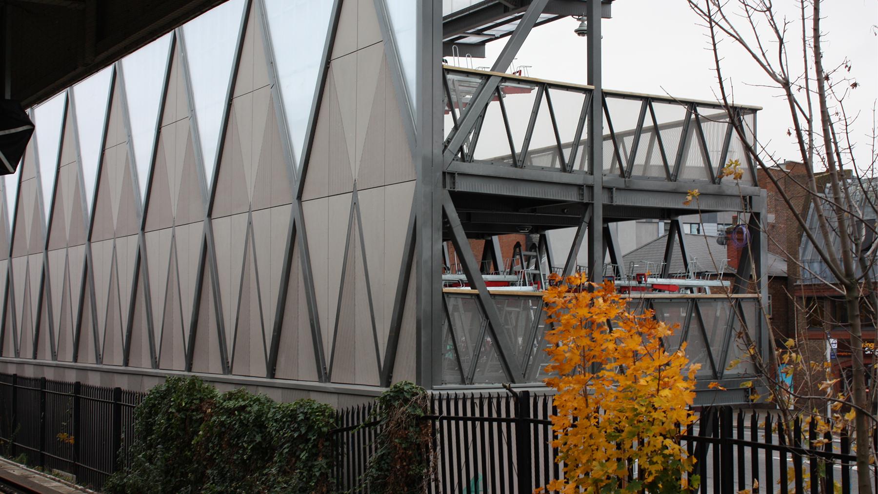 Sarah-Wigglesworth-Architects Kingston-Go-Cycle Cladding to rear elevation  1800x1013