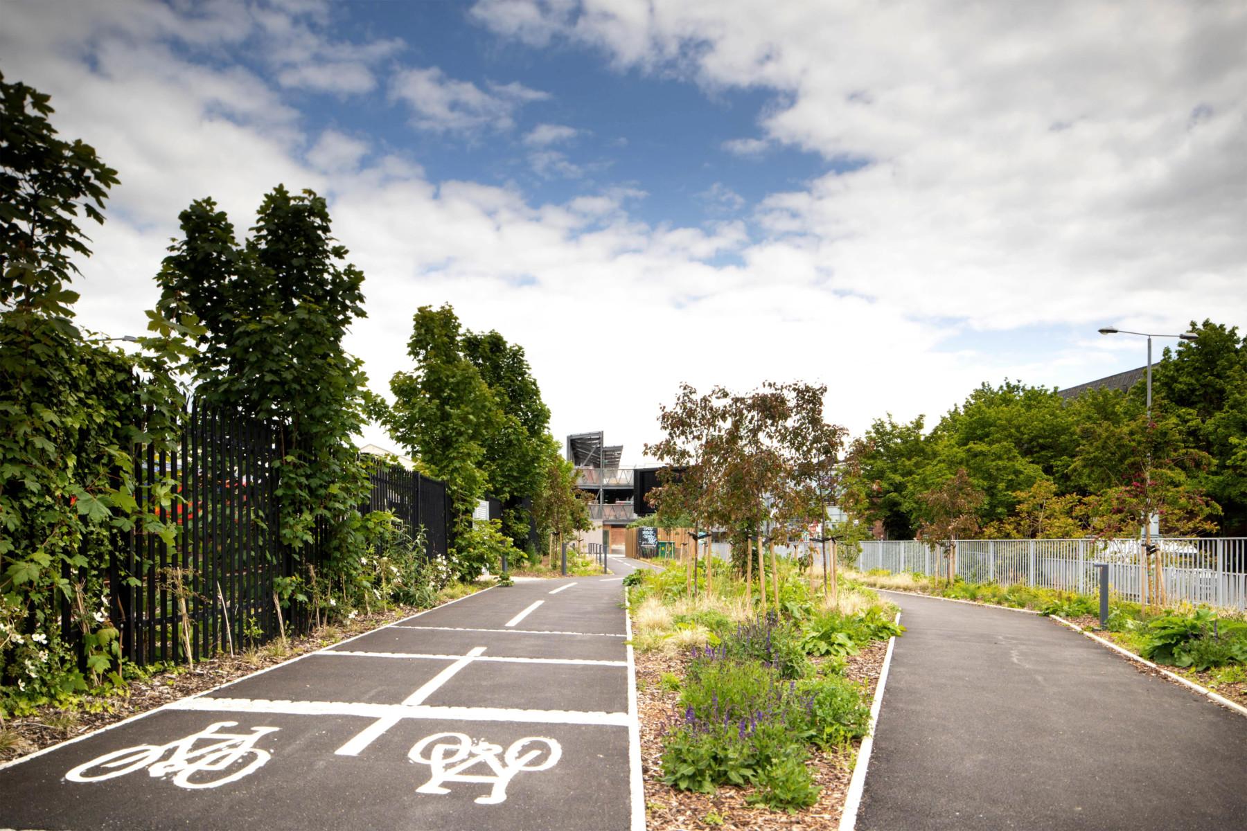 Sarah-Wigglesworth-Architects Kingston-Go-Cycle Path planting  3600x2200