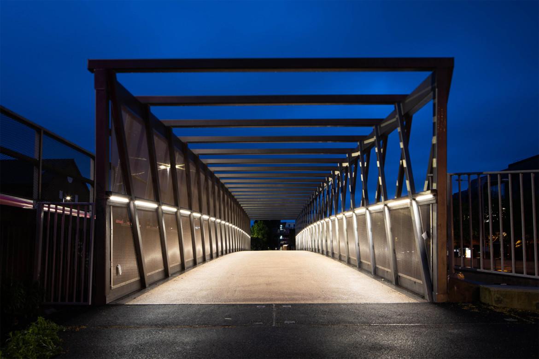 Sarah-Wigglesworth-Architects Kingston-Go-Cycle  Cycle Bridge Night  1800x1200