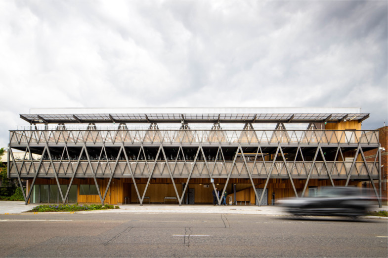 Sarah-Wigglesworth-Architects Kingston-Go-Cycle  Front Elevation  3600x2400