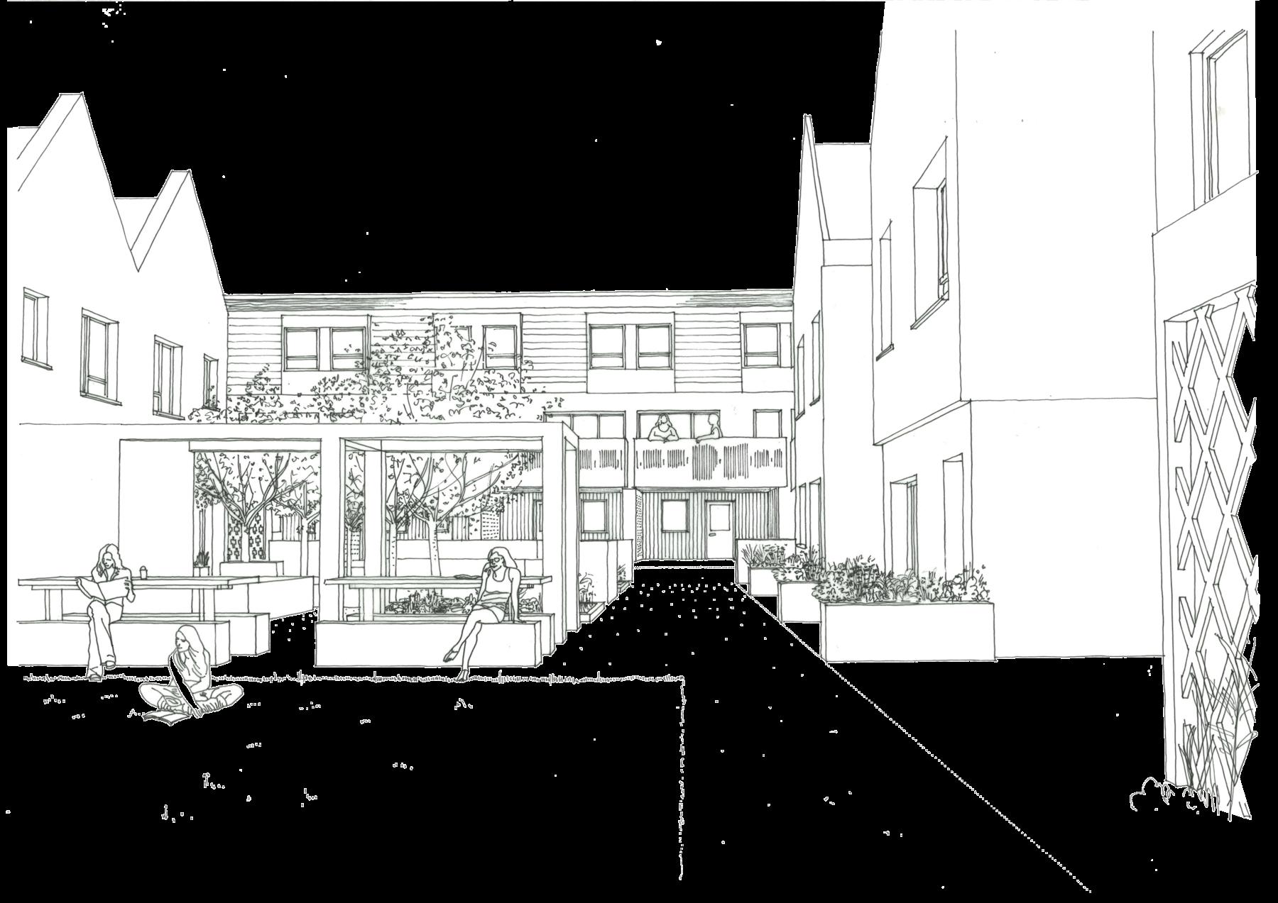 Sarah-Wigglesworth-Architects NWC courtyard-view2 3600