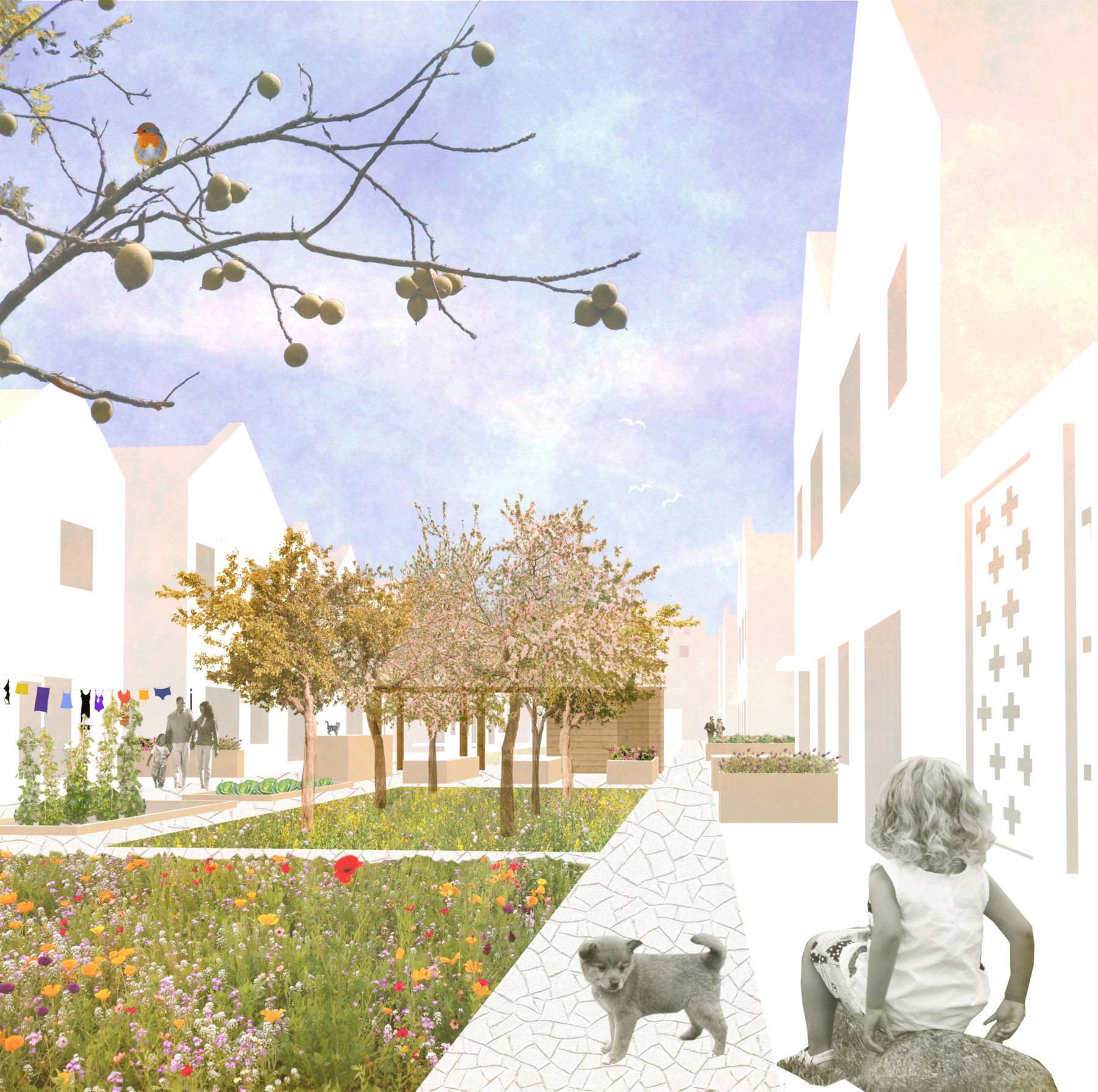 Sarah-Wigglesworth-Architects NWC courtyard-view 3600