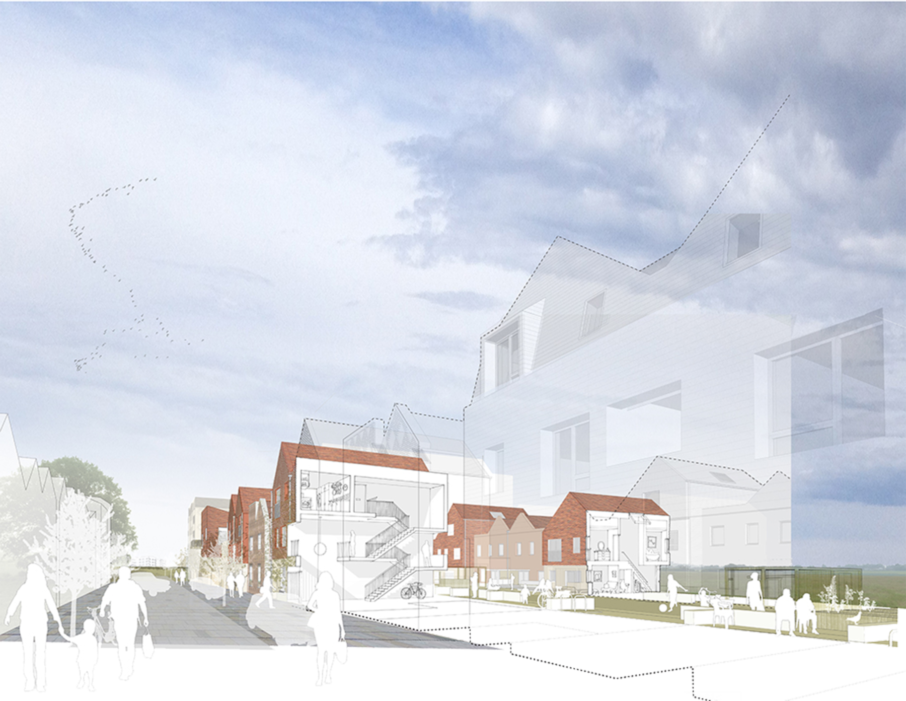 Sarah-Wigglesworth-Architects NWC street-perspective 3600