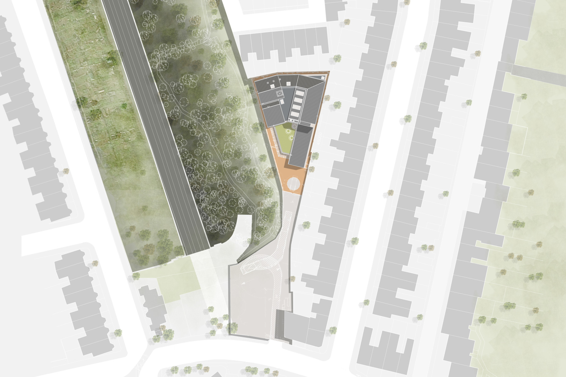 Sarah Wigglesworth Architects Site plan
