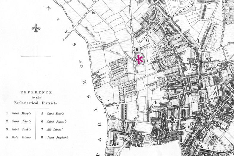 Sarah-Wigglesworth-Architects Unlocking-Pentonville 1841-Plan-of-the-parish-of-st-Mary-Islington Islington-local-history-centre 1800
