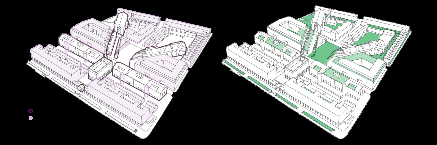 Sarah-Wigglesworth-Architects Unlocking-Pentonville Aerial-View-Analysis Diagram