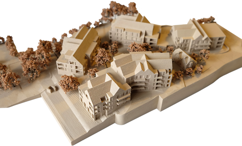 Sarah-Wigglesworth-Architects Sidmouth-Later-Living Plateau-Model 1800