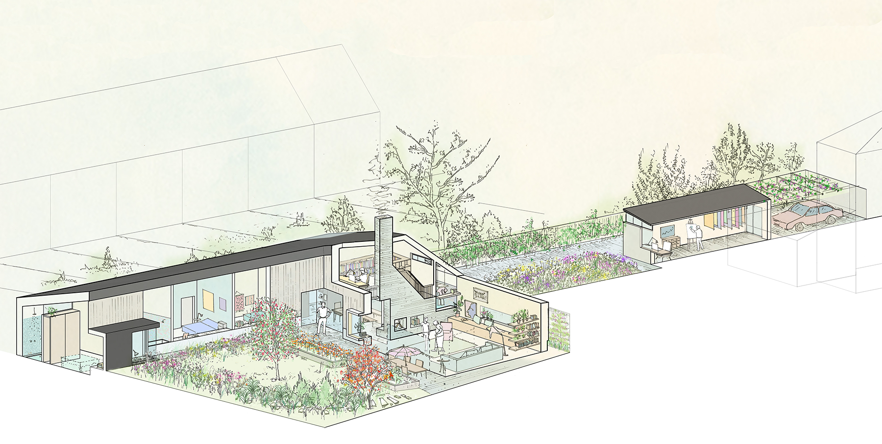 Sarah-Wigglesworth-Architects Haycroft-Gardens Overview-Year-15 1800