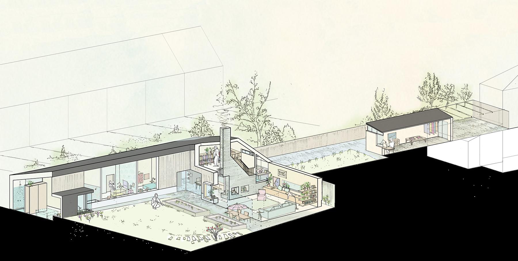 Sarah-Wigglesworth-Architects Haycroft-Gardens Overview-Year-1 1800