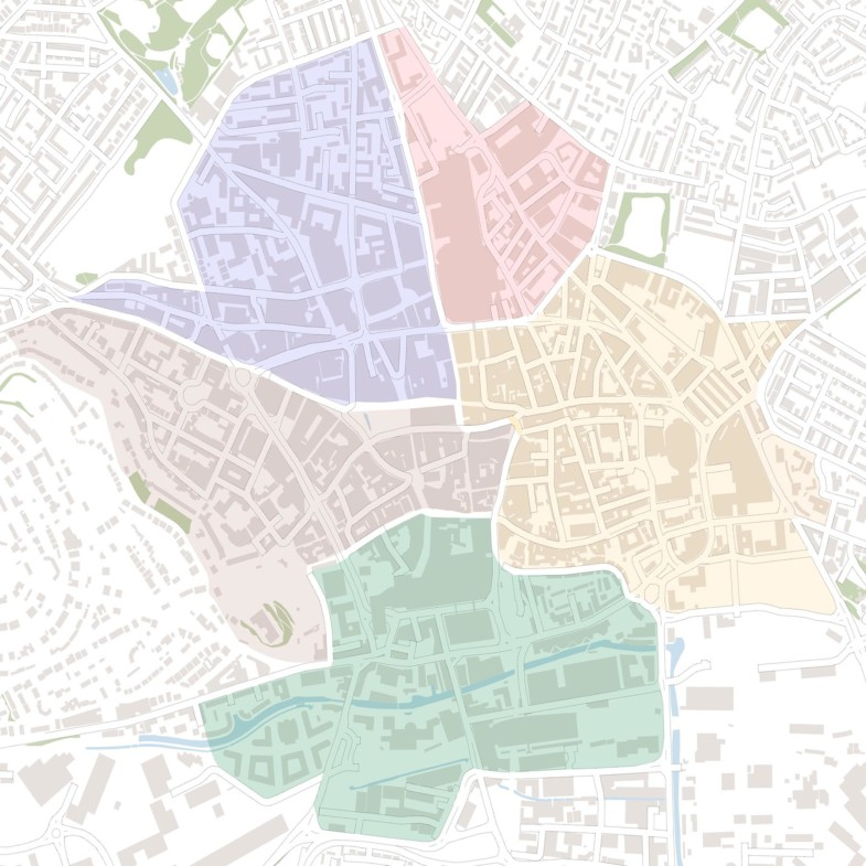 Nottingham City centre zones