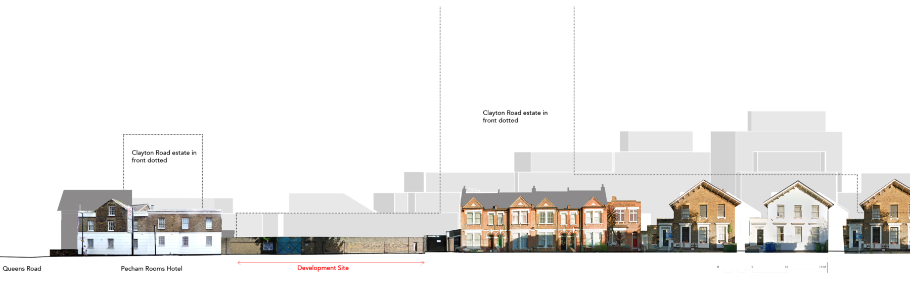 Sarah-Wigglesworth-Architects Queens-Road Existing-Street-Elevation 3600x1200