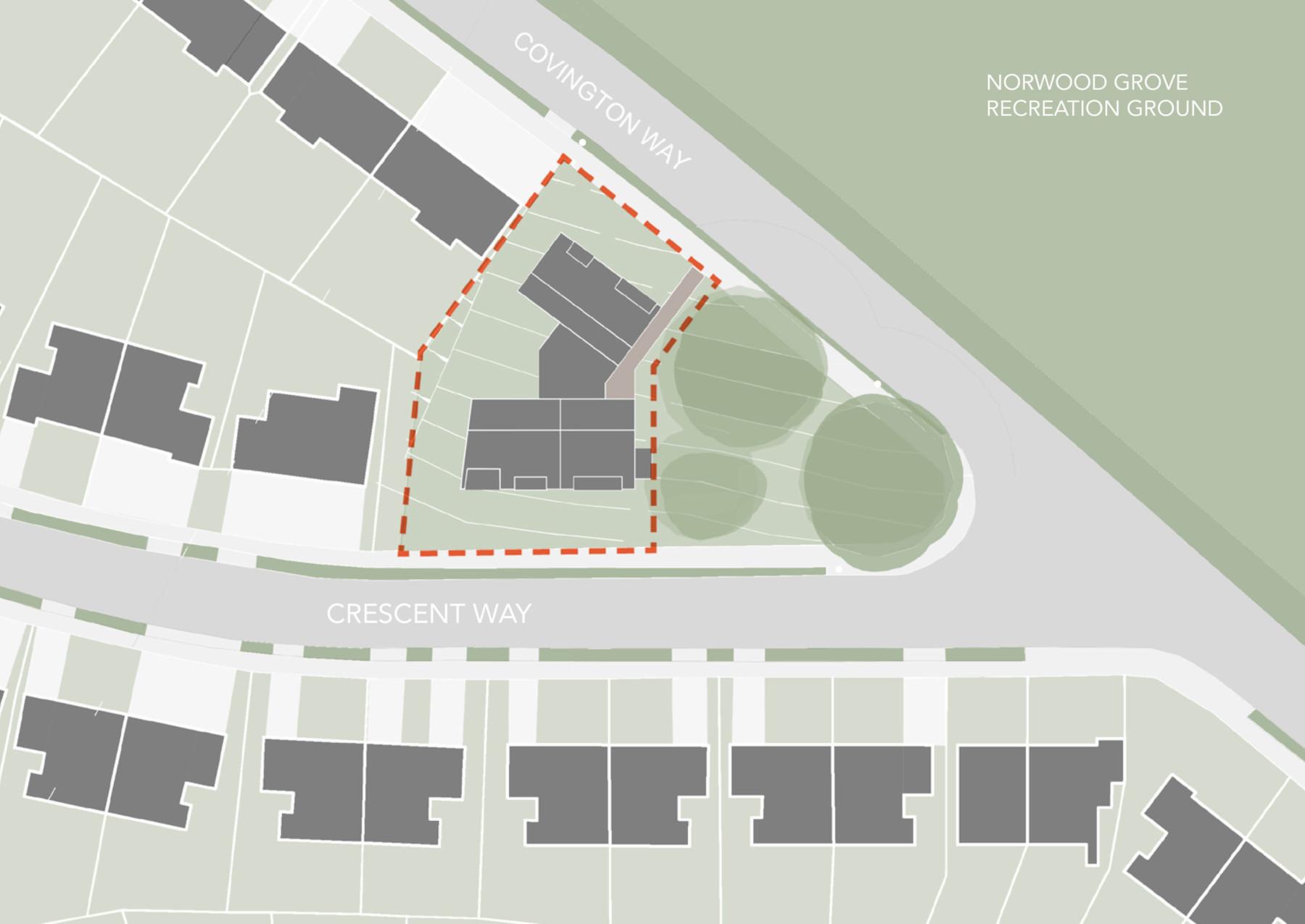 Sarah Wigglesworth Architects Covington Court Site Plan