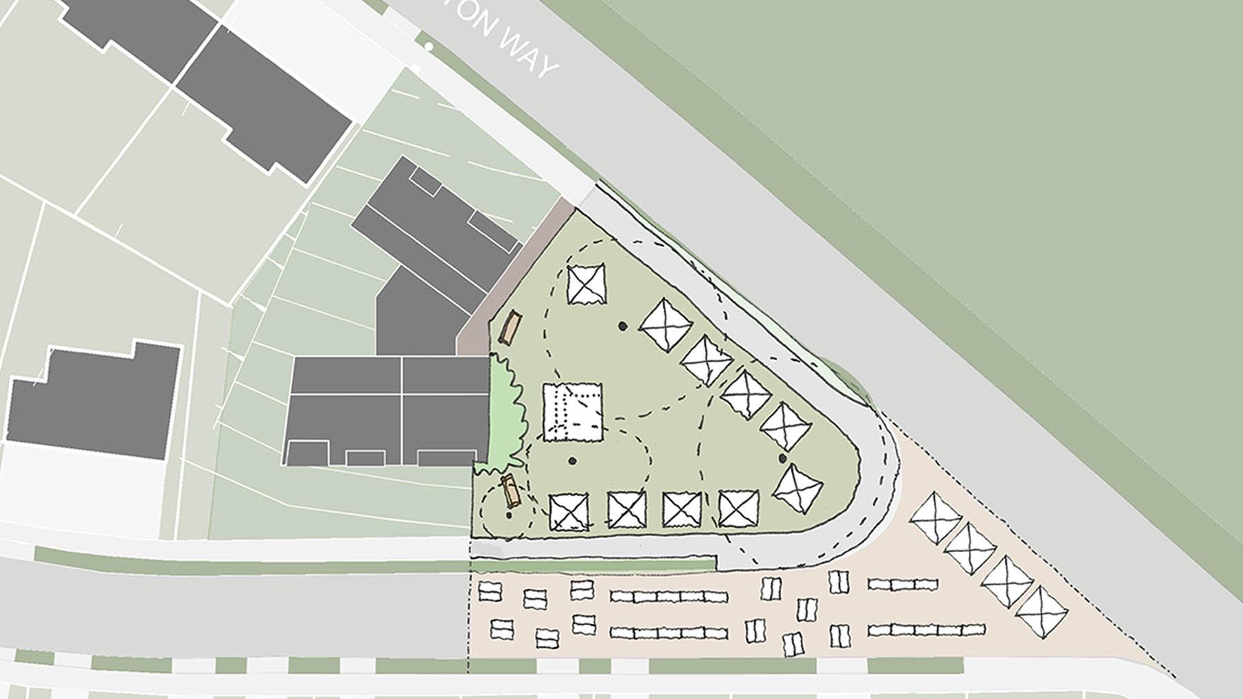Sarah Wigglesworth Architects Covington Court Slideshow Public Use Sketch 10