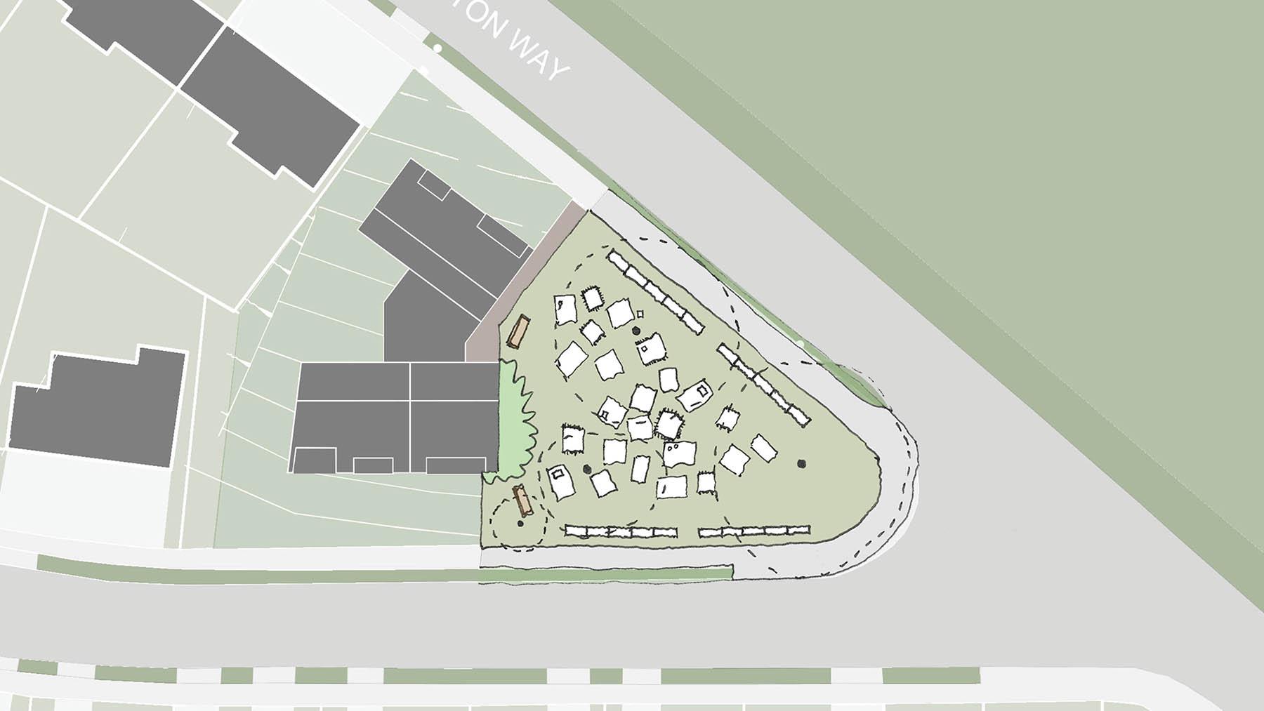 Sarah Wigglesworth Architects Covington Court Slideshow Public Use Sketch 2