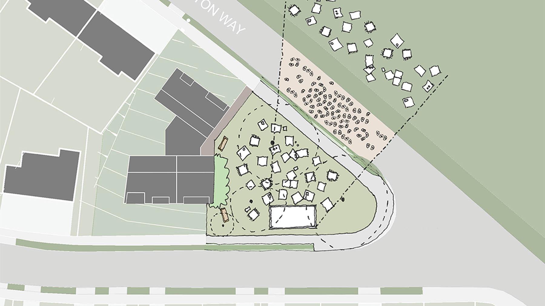 Sarah Wigglesworth Architects Covington Court Slideshow Public Use Sketch 6