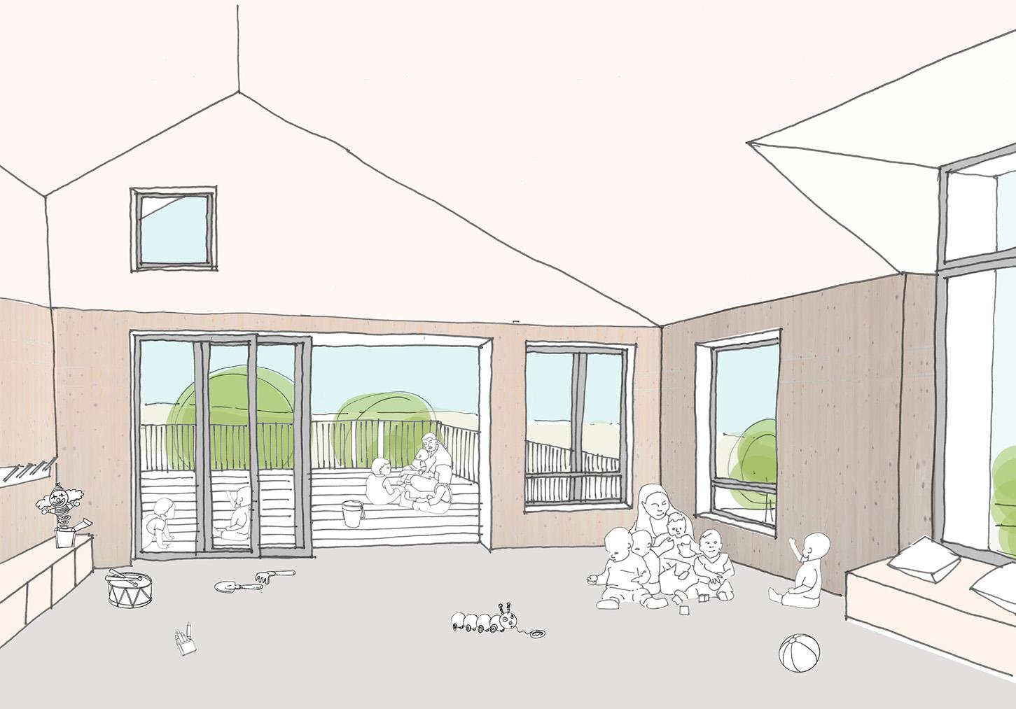 Sarah-Wigglesworth-Architects Portland-Nursery Internal-View-2 1800-slide