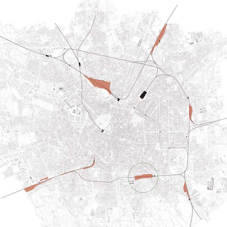 5. map of Milan w rail yards 1800